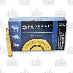 Federal Power-Shok 30-06 Springfield 220 Grain Speer Hot-Cor Soft Point 20 Rounds