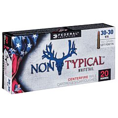 Federal Non-Typical Whitetail  30-30 Winchester 150 Grain Soft Point 20 Rounds