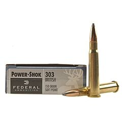 Federal Power-Shok 303 British 150 Grain Soft Point 20 Rounds