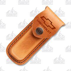 Case Chevrolet Medium Brown Leather Sheath