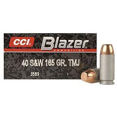CCI Blazer 40 S&W 165 Grain Total Metal Jacket 50 Rounds