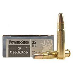 Federal Power-Shok 35 Remington 200 Grain Soft Point Round Nose 20 Rounds