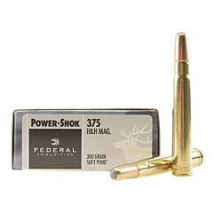 Federal Power-Shok 375 H&H Magnum 300 Grain Soft Point 20 Rounds