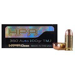 HPR HyperClean 380 ACP 100 Grain Total Metal Jacket 50 Rounds