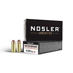 Nosler Match Grade Handgun 40 S&W 150GR JHP 50 Rounds