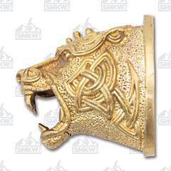 Swan Lake Knives Bronze Celtic Style Bear Head Pommel Model 440184B