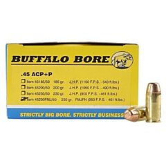 Buffalo Bore 45 ACP 230 Grain Full Metal Jacket Flat Base 20 Rounds