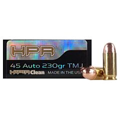 HPR HyperClean 45 ACP 230 Grain Total Metal Jacket 50 Rounds