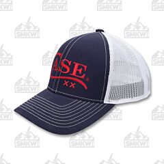 Case Logo Hat Navy White