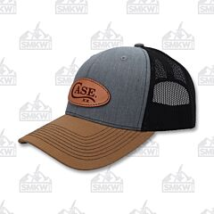 Case Logo Hat Heather Gray Black Gold