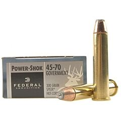 Federal Power-Shok 45-70 Government 300 Grain Speer Hot Cor-SP 20 Rounds