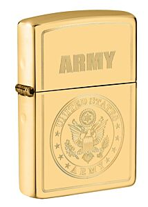 Zippo Army High Polish Brass Lighter