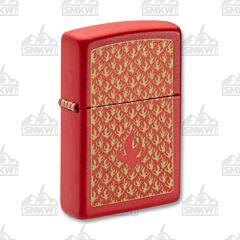 Zippo Red Matte Flame Lighter