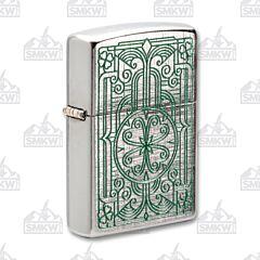 Zippo Linen Weave Luck Lighter
