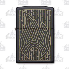 Zippo Black Matte Maze Lighter
