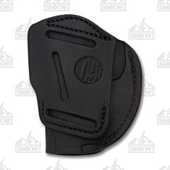 1791 Gunleather 4 Way 4WH-1 Stealth Black Right Carry Concealment & Belt Leather IWB & OWB Holster