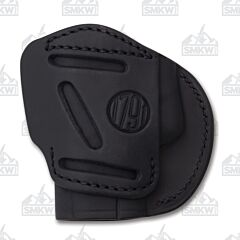 1791 Gunleather 4 Way 4WH-3 Stealth Black Right Carry Concealment & Belt Leather IWB & OWB Holster