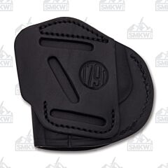 1791 Gunleather 4 Way 4WH-4 Stealth Black Right Carry Concealment & Belt Leather IWB & OWB Holster