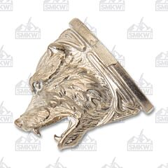 Swan Lake Knives Nickel Silver Celtic Bear Head Pommel