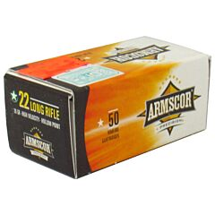 Armscor 22 Long Rifle 36 Grain High Velocity Lead Hollow Point 50 Rounds