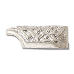 Swan Lake Knives Nickel Silver Celtic Knot Blade Guard Model 500429N