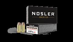 Nosler Match Grade Handgun Ammo 45 ACP 185 Grain JHP 50 Rounds
