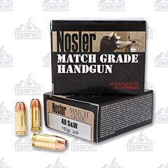Nosler Match Grade 40 S&W 150 Grain Jacketed Soft Point 20 Rounds