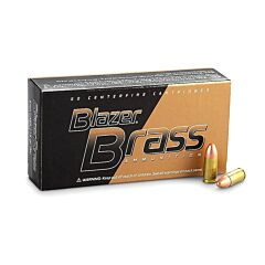 CCI Blazer Brass 9mm 115 Grain Full Metal Jacket 1000 Rounds