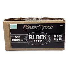 Blazer Brass Black Pack 40 S&W 180 Grain Full Metal Jacket 350 Rounds