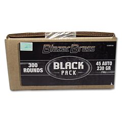 Blazer Brass Black Pack 45 ACP 230 Grain Full Metal Jacket 300 Rounds