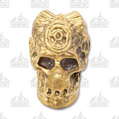 Swan Lake Knives Bronze Skull with Horns Pommel