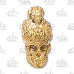 Swan Lake Knives Bronze Skull with Rat Pommel