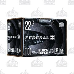 Federal Black Pack 22LR 38 Grain Copper Plated Hollow Point 1100 Rounds
