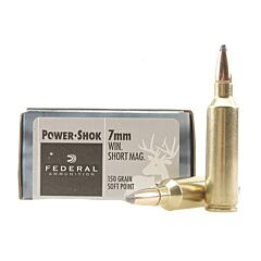 Federal Power-Shok 7mm Winchester Short Magnum 150 Grain Soft Point 20 Rounds