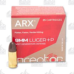 Inceptor Preferred Defense 9mm Luger +P 65 Grain ARX 25 Rounds