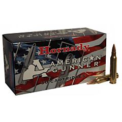 Hornady American Gunner 223 Remington/5.56 NATO 55 Grain Jacketed Hollow Point 50 Rounds