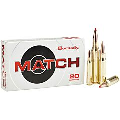 Hornady Match 223 Remington/5.56 NATO 75 Grain Boat Tail Hollow Point 20 Rounds