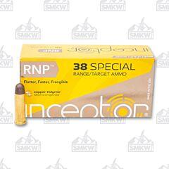 Inceptor Sport Utility 38 Special 84 Grain RNP 50 Rounds