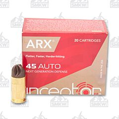 Inceptor Preferred Defense 45 ACP 118 Grain ARX 20 Rounds