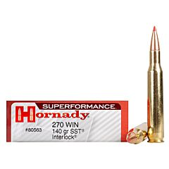 Hornady Superformance 270 Winchester 140 Grain SST Polymer Tip Boat Tail 20 Rounds