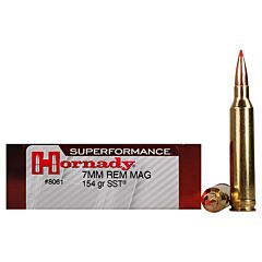 Hornady Superformance 7mm Remington 154 Grain SST Polymer Tip Boat Tail 20 Rounds