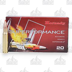 Hornady Superformance 308 Winchester 150 Grain Polymer Tip Boat Tail 20 Rounds