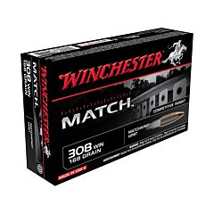Hornady Match 308 Winchester 168 Grain A-Max Polymer Tip Boat Tail 20 Rounds