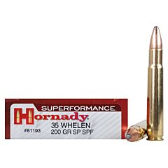 Hornady Superformance 35 Whelen 200 Grain Jacketed Soft Point 20 Rounds