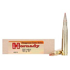 Hornady Custom 300 H&H Magnum 180 Grain Interbond Polymer Tip Boat Tail 20 Rounds