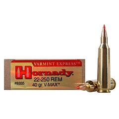 Hornady Varmint Express 22-250 Remington 40 Grain V-Max 20 Rounds