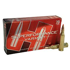 Hornady Superformance Varmint 243 Winchester 58 Grain V-Max 20 Rounds