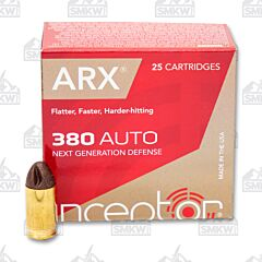 Inceptor Preferred Defense 380 ACP 56 Grain ARX 25 Rounds
