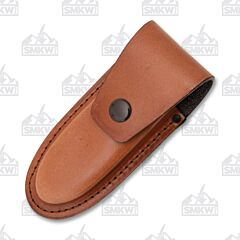 "AA&E Leathercraft 5.5"" Folding Knife Brown Leather Sheath"