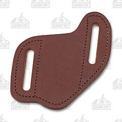 AA&E Leathercraft Folding Knife Small Brown Leather Gentleman's Sheath